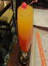 The Shangri-La Smoothie was a non-alcoholic mix of strawberry and mango and worked well at the end of a long day.